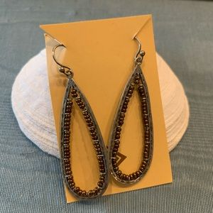 Silpada silver & bronze beads Earrings